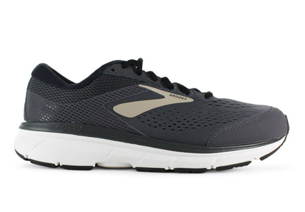 pretty nice a8faa 65d1f BROOKS DYAD 10 (2E) MENS GREY BLACK TAN