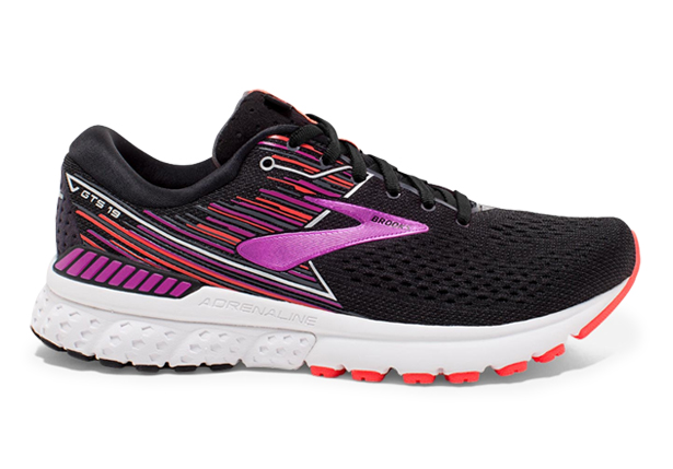 9a153084e2 BROOKS ADRENALINE GTS 19 (D) WOMENS BLACK PURPLE CORAL