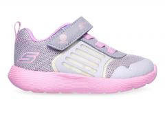 SKECHERS DYNA-LIGHTS KIDS GREY LAVENDER