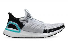 ADIDAS ULTRABOOST 19 MENS  FTWR WHITE FTWR WHITE COLLEGIATE ROYAL