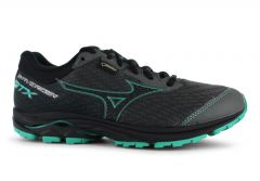 MIZUNO WAVE RIDER 22 (GTX) WOMENS GUNMETAL BILLIARD