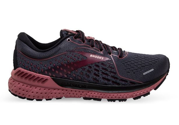 BROOKS ADRENALINE GTS 21 (D) WOMENS  BLACK BLACKENED PEARL NOCTURNE