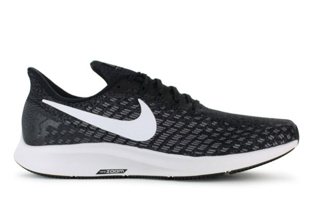 NIKE AIR ZOOM PEGASUS 35 MENS BLACK WHITE-GUNSMOKE-OIL GREY