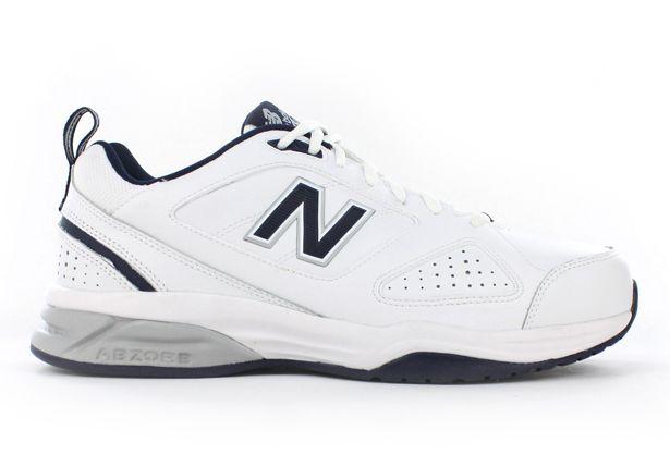 NEW BALANCE MX624WN V4 (2E) MENS WHITE NAVY