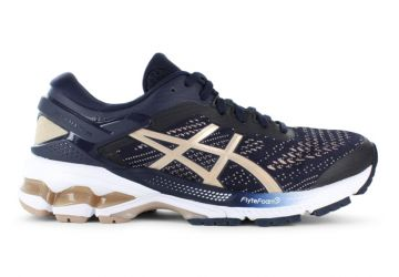 ASICS GEL-KAYANO 26 (D) WOMENS MIDNIGHT FROSTED ALMOND