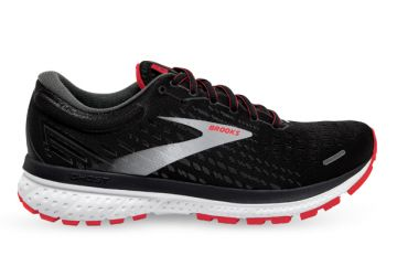 BROOKS GHOST 13 (2E) MENS BLACK RED