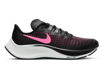 NIKE AIR ZOOM PEGASUS 37 (GS) KIDS BLACK PINK GLOW SMOKE GREY PHOTON DUST