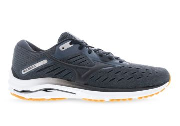 MIZUNO WAVE RIDER 24 (2E) MENS DARK SHADOW BLACK BISCUIT
