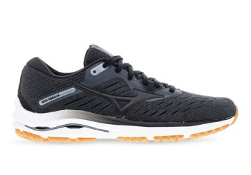 MIZUNO WAVE RIDER 24 (D) WOMENS DARK SHADOW BLACK BISCUIT