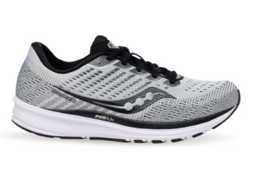 SAUCONY RIDE 13 ALLOY BLACK MENS ALLOY BLACK