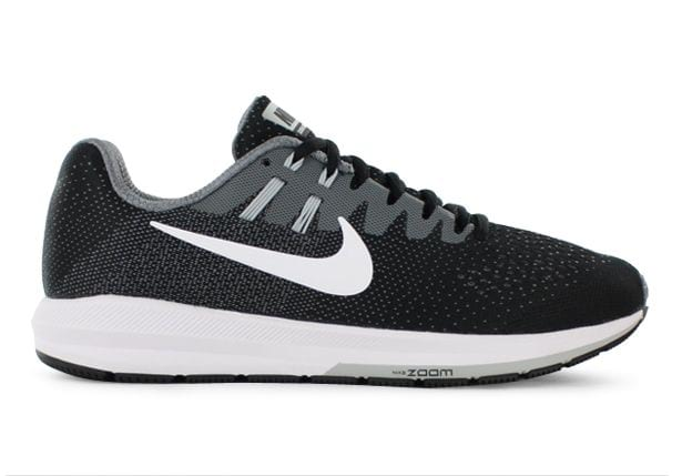 AIR ZOOM STRUCTURE 20 / WOMENS / BLACK WHITE-COOL GREY-PR PLTNM