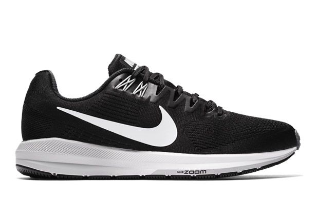 AIR ZOOM STRUCTURE 21 / MENS / BLACK WHITE-WOLF GREY-COOL GREY