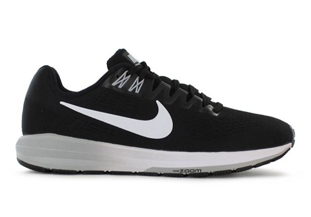 AIR ZOOM STRUCTURE 21 / WOMENS / BLACK WHITE-WOLF GREY-COOL GREY