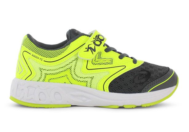 GEL-NOOSA (PS) KIDS CARBON SAFETY YELLOW MID GREY