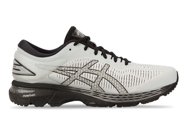 ASICS GEL-KAYANO 25 (4E) MENS GLACIER GREY BLACK