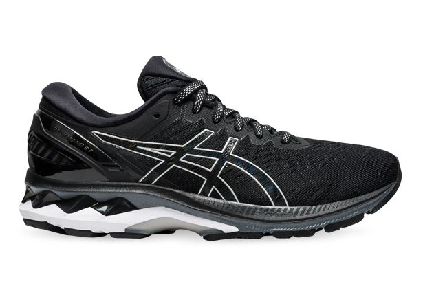 ASICS GEL-KAYANO 27 (D) WOMENS BLACK PURE SILVER