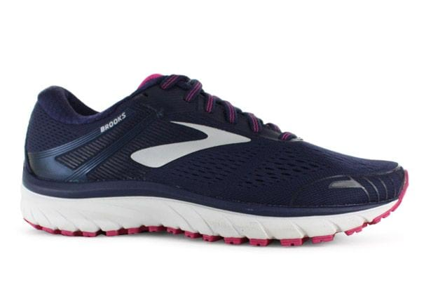 BROOKS ADRENALINE GTS 18 WOMENS EVENING BLUE SILVER PINK