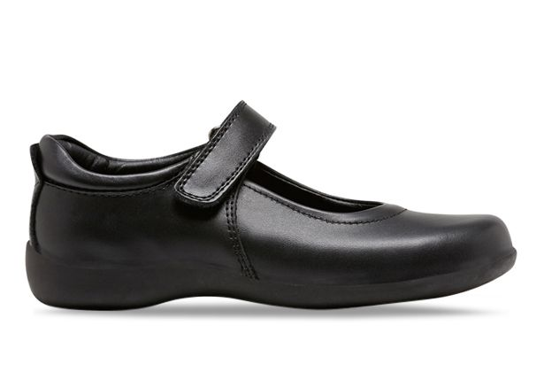 CLARKS ELISE (WIDE) KIDS BLACK