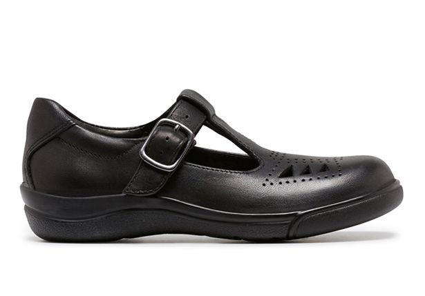 CLARKS PUPIL (NARROW) KIDS BLACK