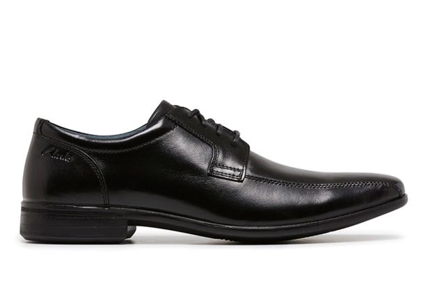 CLARKS CAMDEN (WIDE) MENS BLACK