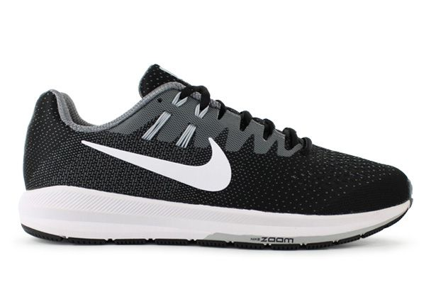 AIR ZOOM STRUCTURE 20 / MENS / BLACK WHITE-COOL GREY-PR PLTNM