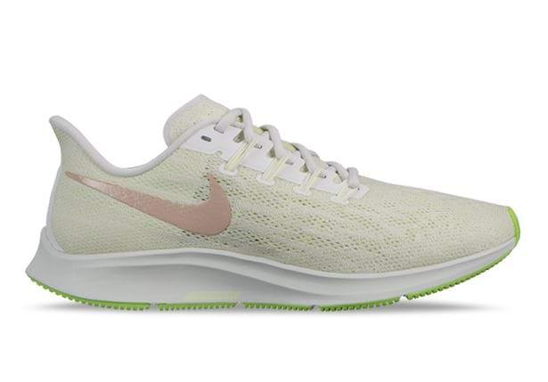 Dos grados relajado Personal  NIKE AIR ZOOM PEGASUS 36 WOMENS PHANTOM BIO BEIGE-BARELY VOLT | Green Womens  Cushion Running Shoes