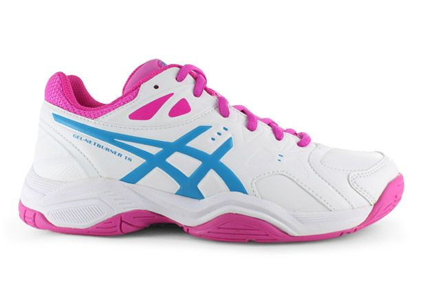 ASICS GEL-NETBURNER 18 GS KIDS WHITE ISLAND BLUE