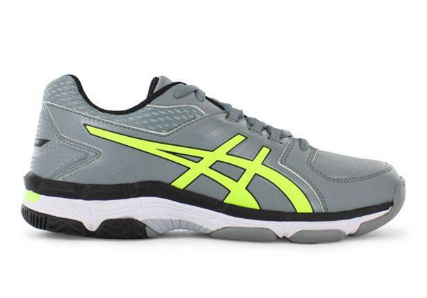 ASICS GEL-540TR (GS) LEATHER KIDS STONE GREY SAFETY YELLOW BLACK