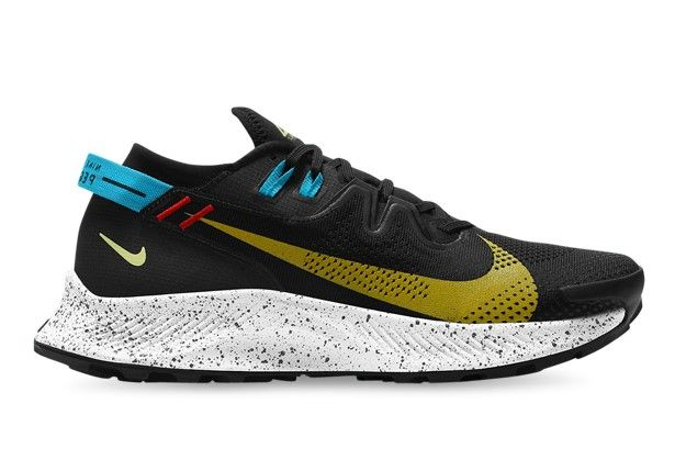 NIKE PEGASUS TRAIL 2 MENS BLACK DARK SULFUR OFF NOIR CHILE RED