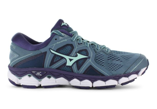 MIZUNO WAVE SKY 2 WOMENS BLUE MIRAGE BROOK GREEN