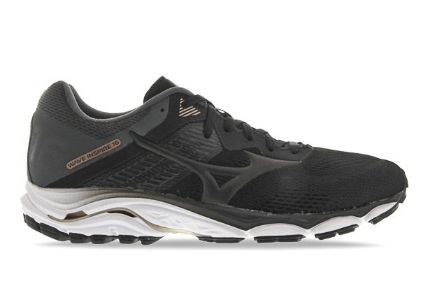 MIZUNO WAVE INSPIRE 16 (D) WOMENS BLACK BLACK DARK SHADOW
