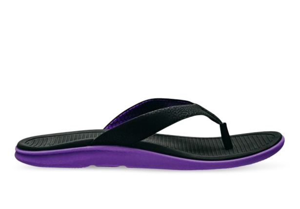 LIGHTFEET RECHARGE THONG WOMENS BLACK PURPLE