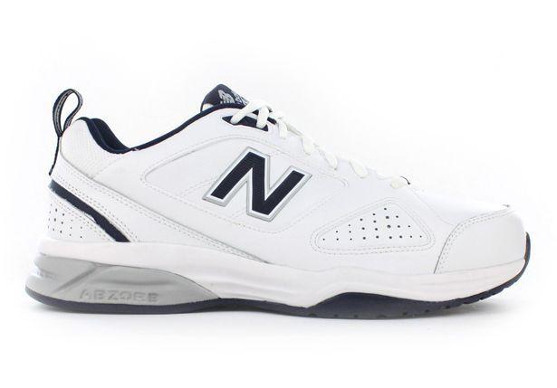 NEW BALANCE MX624WN V4 (6E) MENS WHITE NAVY