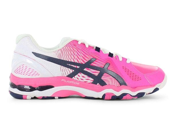 ASICS GEL-NETBURNER SUPER 8 WOMENS HOT PINK INDIGO BLUE WHITE