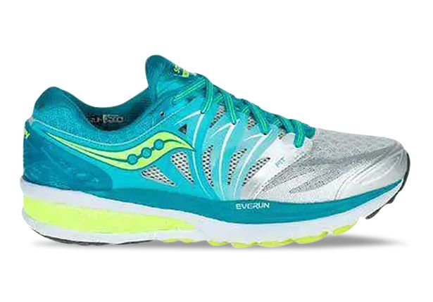 SAUCONY HURRICANE ISO 2 WOMENS BLUE SILVER CITRON