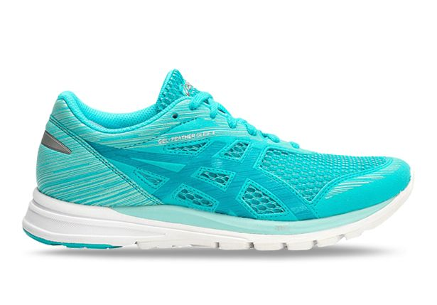 ASICS GEL-FEATHER GLIDE 4 WOMENS ARUBA BLUE AQUARIUM WHITE