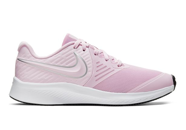 Referéndum Estoy orgulloso Directamente  NIKE STAR RUNNER 2 (GS) KIDS PINK FOAM METALLIC SILVER-VOLT | Pink  Grade-School & Senior Girls Running Shoes