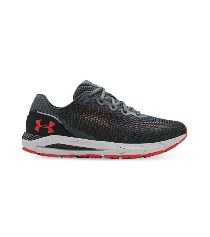 UNDER ARMOUR HOVR SONIC 4 MENS PITCH GRAY HALO GRAY VENOM RED