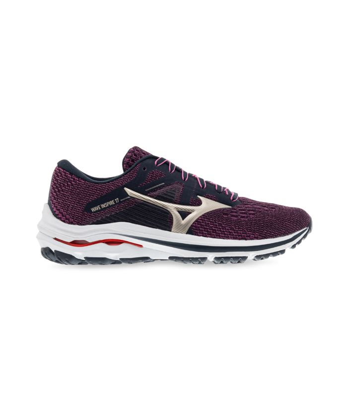 MIZUNO WAVE INSPIRE 17 WOMENS INDIA INK GOLD RED