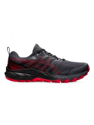 ASICS GEL-TRABUCO 9 MENS CARRIER GREY ELECTRIC RED