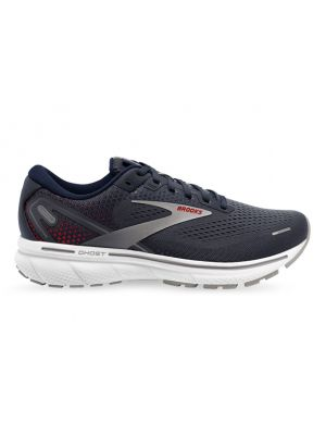 BROOKS GHOST 14 (2E) MENS PEACOAT INDIA INK RED
