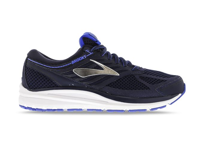 BROOKS ADDICTION 13 (2E) MENS NAVY SILVER ELECTRIC BLUE