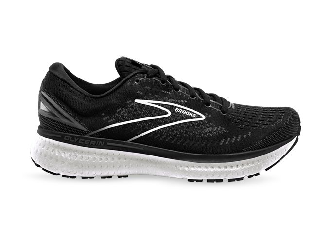 BROOKS GLYCERIN 19 MENS BLACK WHITE