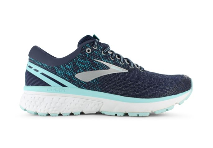 BROOKS GHOST 11 (D) WOMENS NAVY GREY BLUE