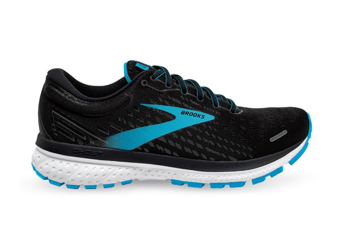 BROOKS GHOST 13 (D) WOMENS BLACK TURQUOISE