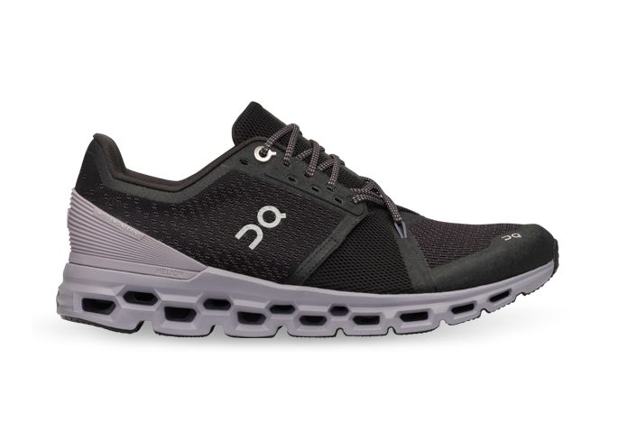 ON RUNNING CLOUDSTRATUS WOMENS BLACK LILAC