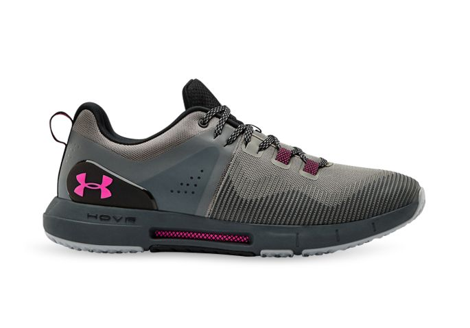 UNDER ARMOUR MENS HOVR RISE MENS GRAVITY GREEN PITCHGRAY PINK
