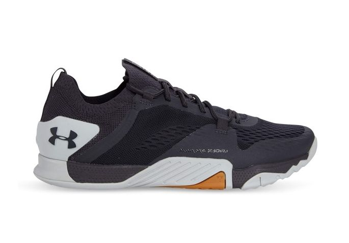 UNDER ARMOUR TRIBASE REIGN 2 MENS BLACKOUT PURPLE HALO GRAY BLACKOUT PURPLE