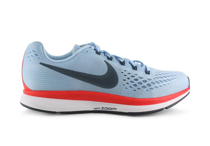 AIR ZOOM PEGASUS 34 / WOMENS / ICE BLUE BLUE FOX-BRIGHT CRIMSON-WHITE
