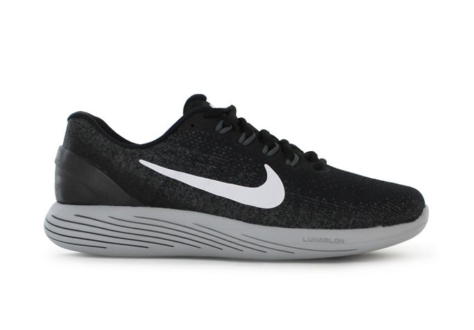 LUNARGLIDE 9 / MENS / BLACK WHITE-DARK GREY-WOLF GREY